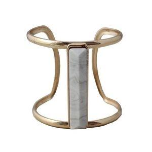 Stone Open Cuff Bracelet
